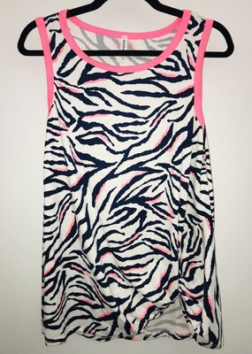 Emerald Collection Neon Pink Zebra Tank