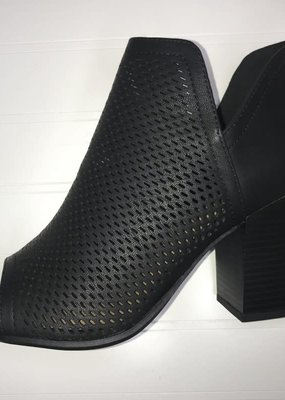 LA Shoe King Black Bootie
