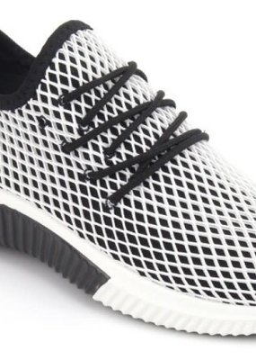 Rad Fashion Black and White Mesh Sneaker