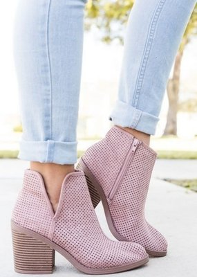 LA Shoe King Blush Bootie