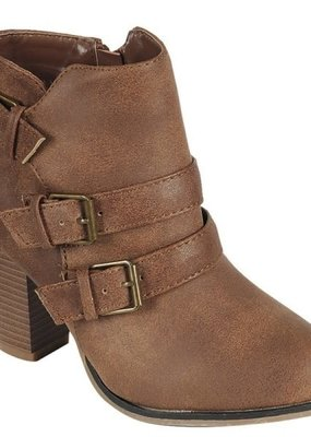 Passion For Fashion Buckle Bootie Tan