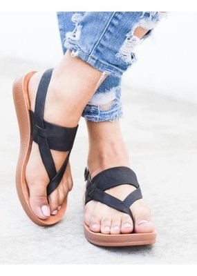 CJ Shoes Black Strap Sandals