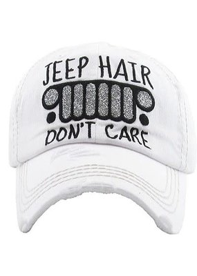 Too Too Hat Jeep Hair Don't Care Hat - White