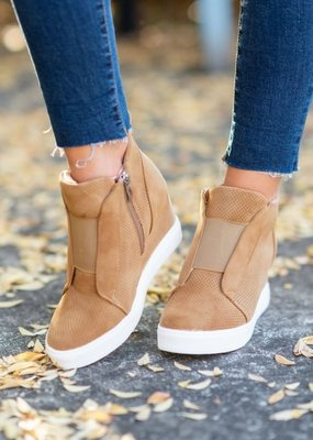 Ccocci Camel Tan Wedge Sneaker