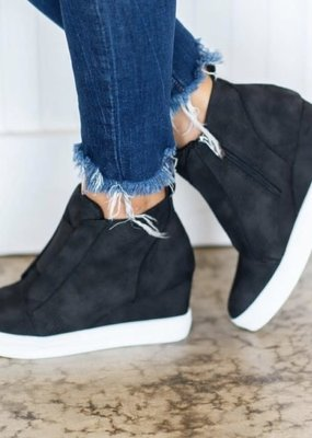 Ccoocci Black Wedge Sneaker