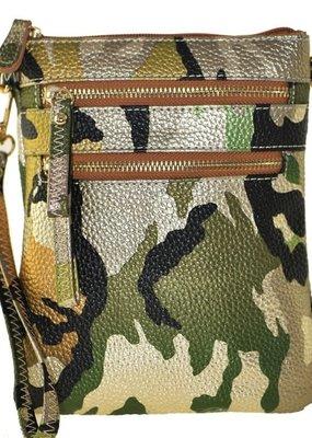 Camouflage Wristlet Crossbody Bag