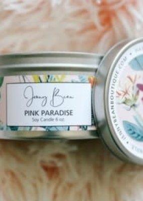 Jenny Bean Pink Paradise Jar Candle