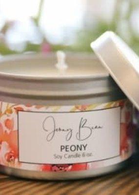 Jenny Bean Peony Jar Candle