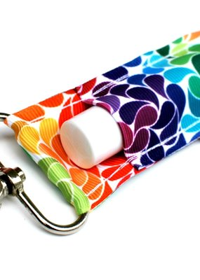 Gabriel Good Tidings Rainbow Swirls LippyClip Lip Balm Holder