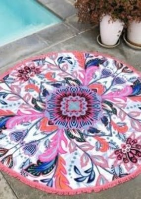 Pink Tribal Beach Blanket Towel