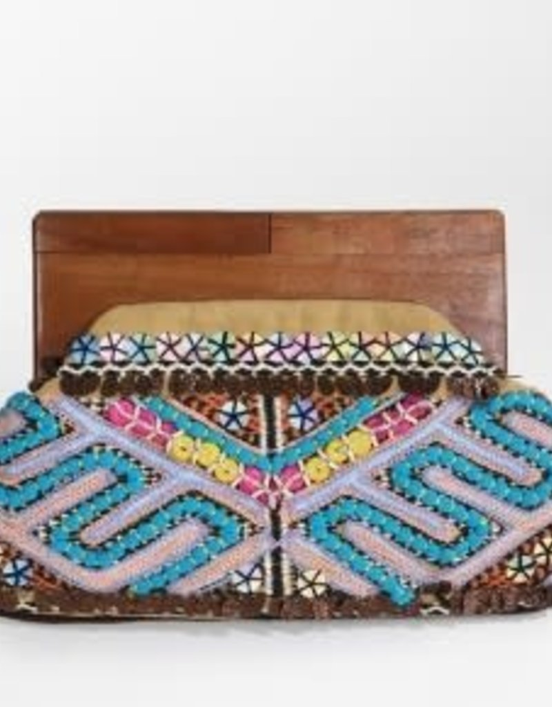 urbanista Embroidered Bead and Sequin Clutch