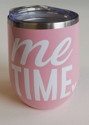 Sweet Caroline Boutique Me Time 12oz Tumbler - Pink
