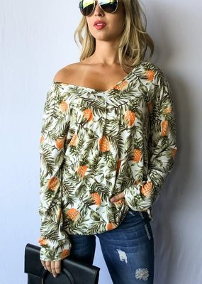 And the Why Pineapple Off The Shoulder Top