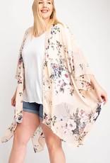143  Story Chiffon Floral Kimono