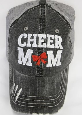 Plain Tee Apparel Cheer Mom Distressed Mesh Hat