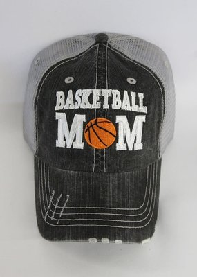 Plain Apparel Tee Basketball Mom Distressed Mesh Hat
