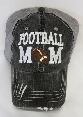 Plain Tee Apparel Football Mom Mesh Distressed Hat