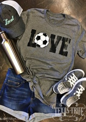 TTT Soccer Love with Silver Sparkle Tee