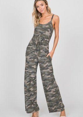 Cezanne Camo Jumpsuit with Pockets