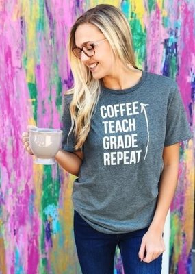 Vintage Soul Coffee Teach Grade Repeat Tee (S-XL)
