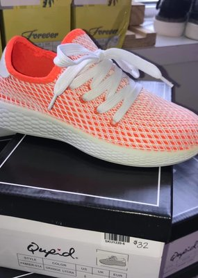 Shoe Addict Neon Orange and White Slip On Sneakers