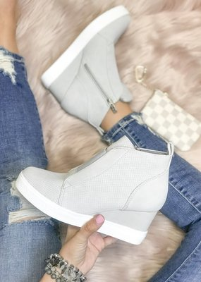 Ccocci Light Grey Wedge Sneakers