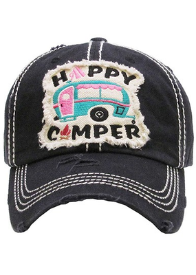 Too Too Hat Happy Camper Teal Vintage - Charcoal