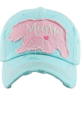 Too Too Hat Mama Bear Distressed Hat - Mint