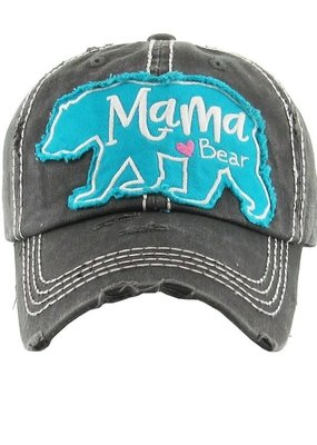 Too Too Hat Mama Bear Distressed Hat - Charcoal