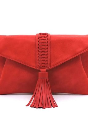 PJEE  Handbags Red Clutch and Cross Body Bag
