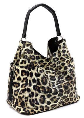 PJEE  Handbags Leopard Vegan Leather Bag