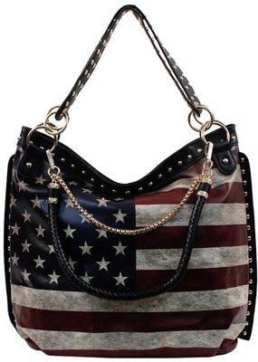 PJEE  Handbags U.S. American Flag Print Handbag