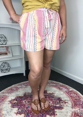 L Love Paper Bag Aztec Design Print Shorts