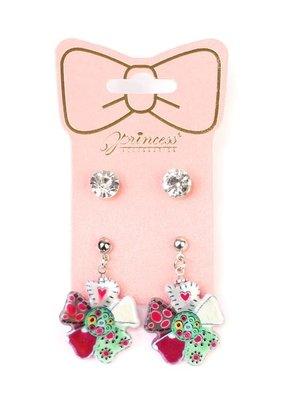 MYS Kids 2 Pack Stud and Flower Earrings