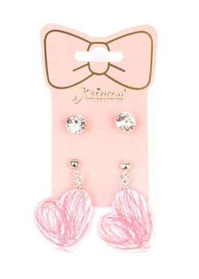 MYS Kids 2 Pack Earrings Studs and Hearts