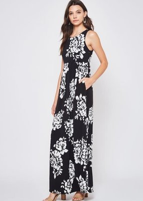 Beeson River Black Floral Maxi Dress