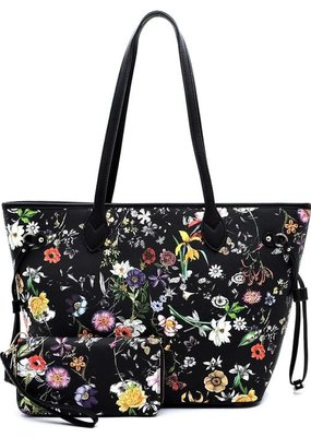 PJEE  Handbags Black Wildflower Handbag
