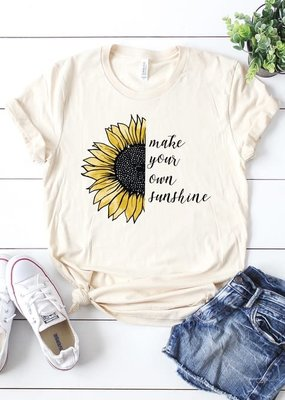 Kissed Apparel Make Your Own Sunshine Tee - Cream