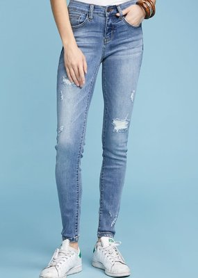 Judy Blue Judy Blue Destroyed Light Skinny Midrise Jean