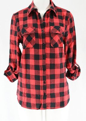 Clothing in America Buffalo Check Button Up Shirt