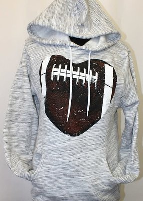 Plain Apparel Tee Football Heart Hoodie