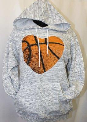 Plain Apparel Tee Basketball Heart Hoodie