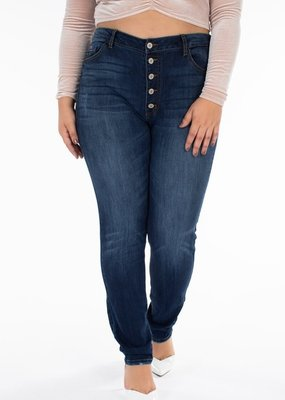 KanCan High Waisted Button Front Skinnies