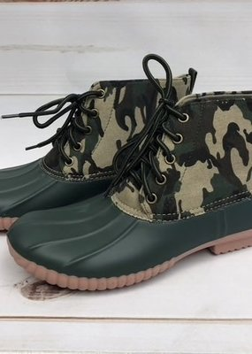 Miami Shoe Ladies Camo Duck Boots