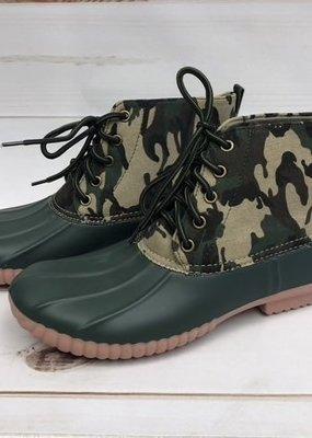 Miami Shoe Ladies Camo Duck Boots