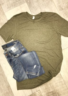 Gypsy Soul Olive Solid Bella Canvas Tee