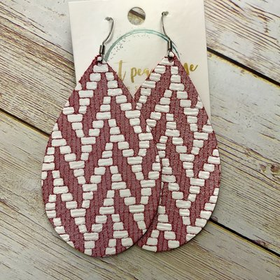 Sweet Pea and Me Designs Brick Chevron Leather Earrings