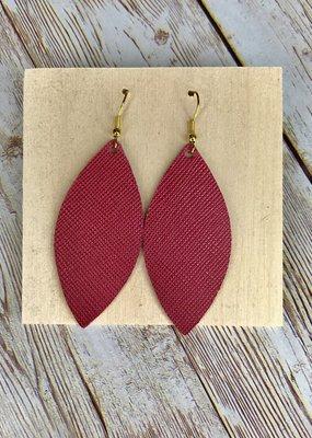 Deer Addie Handmade Leather Rose Earrings