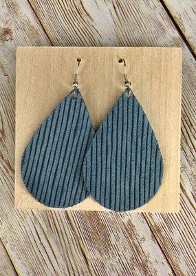 Deer Addie Handmade Denim Leather Earrings