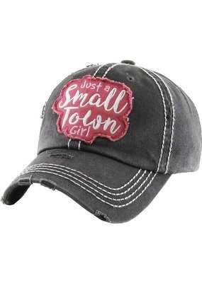 Too Too Hat Small Town Girl Distressed Hat - Charcoal